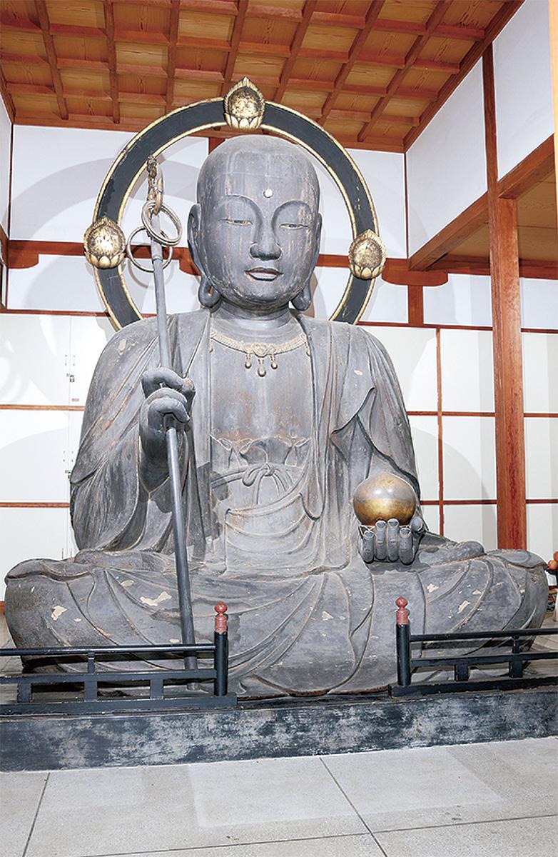 木造地蔵菩薩坐像(横浜市教育委員会提供)