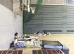 スポーツセンターでは帰宅困難者を受入れた