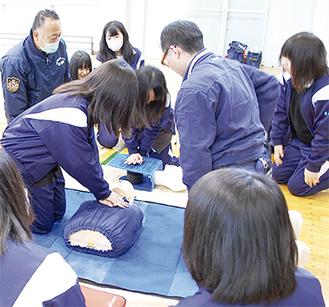 同校の社会貢献DAYの一環として「いざっ!というとき動ける桜高生」をコンセプトに実施された