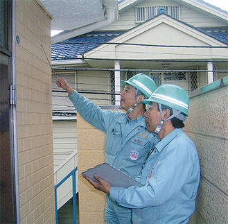 建物のプロが要望に応じて耐震度合いを無料でチェックしてくれる