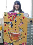 「桜高WEEK」のイメージ画を制作した美術部・木村さん