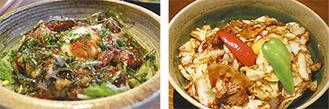「照り焼きチーズチキン丼」(左)と「ホイコーロー丼」(右)がエントリー