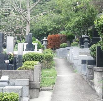 「肝だめし」が行われる真福寺の墓地