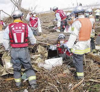 東日本大震災での救助活動