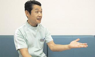 「健康な歯で楽しい毎日にしましょう」と古田院長