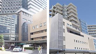 総合医療センター(左)と東部病院