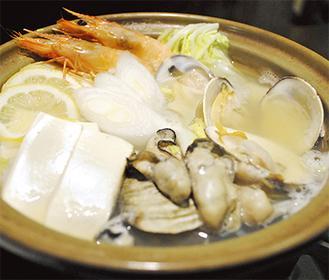 食材にこだわった栄養満点の「特製海鮮レモン鍋」