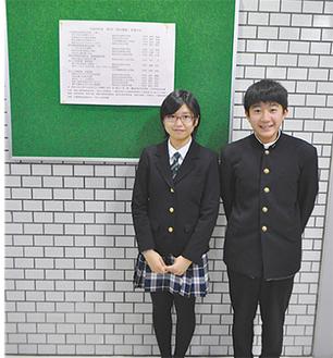 作者の上田さん(左)と中井君