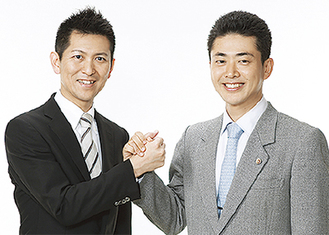 タッグを組む横山税理士(左)と小木弁護士