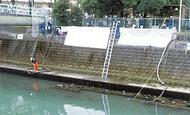 震災想定し、川から取水