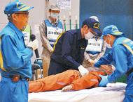 災害時の遺体取扱いを訓練