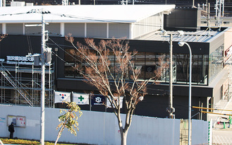 建設が進む羽沢横浜国大駅