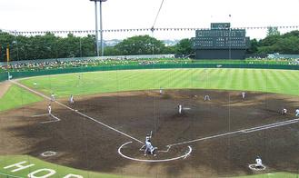 22試合が予定されているサーティーフォー保土ケ谷球場
