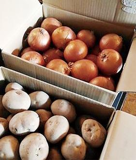 購入したジャガイモと玉ねぎ