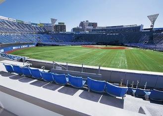 増改築された横浜スタジアム