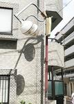 昨年9月の強風で倒壊した街路灯