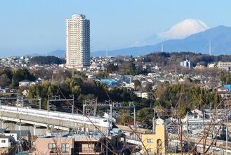 境内からは富士山を望むことができる