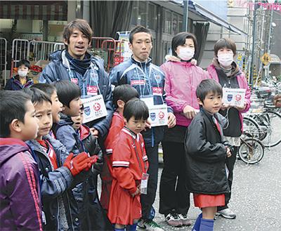 松原商店街で復興イベント