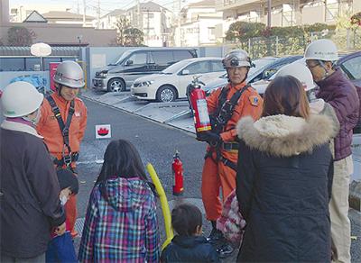 震災想定し避難訓練