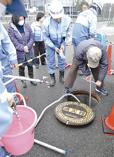 消火栓活用し飲料水確保