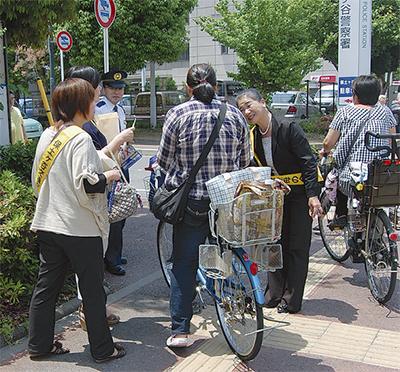 「自転車マナーの向上を」