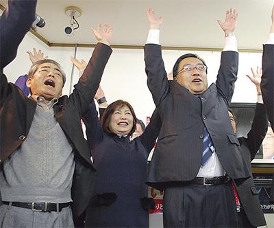 上田氏 公明議席守る