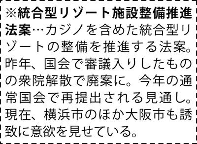 """""""カジノ横浜誘致""""に賛否"""