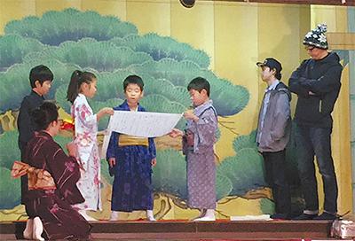 橘樹神社で奉納歌舞伎
