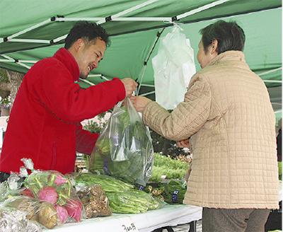 地場野菜ズラリ