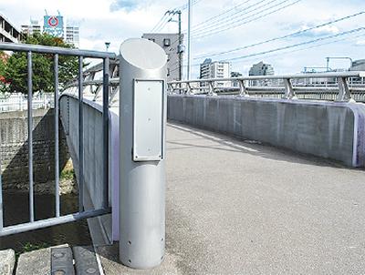 金属製の橋名板が盗難