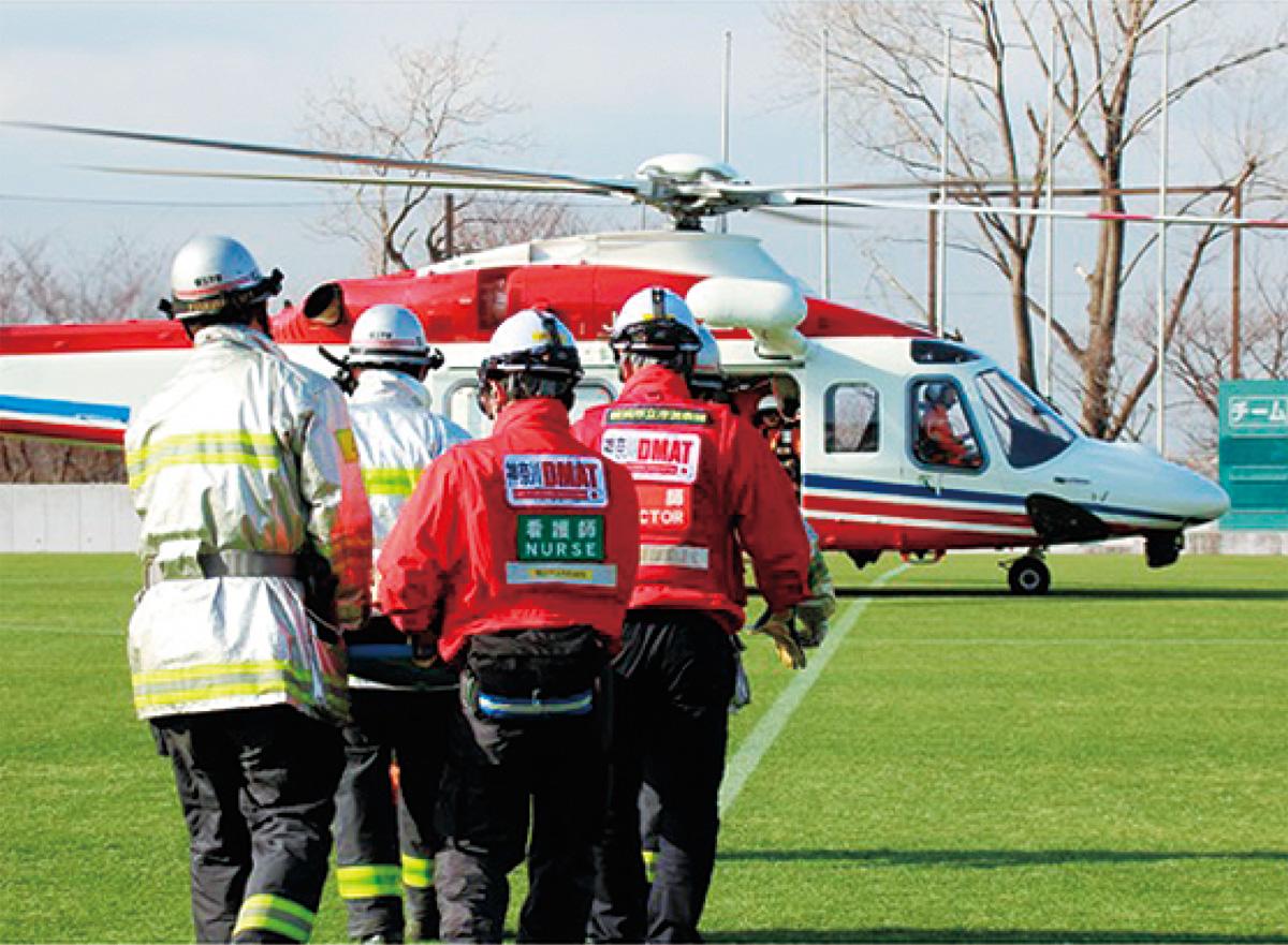 ヘリ離着陸訓練を実施