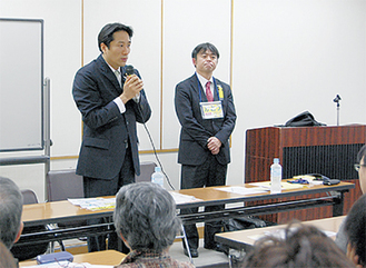 熱く語る川田氏(写真左)