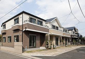 北寺尾の分譲地。建物の参考価格は約1600万円
