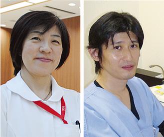 石井副院長(右)と渡邊看護師