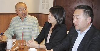 左から藤田さん、内藤さん、小柳さん