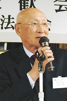 決意を語る長谷川会長