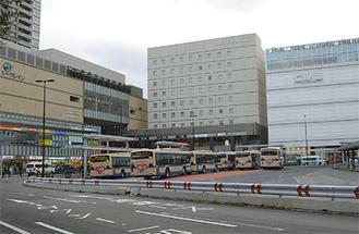 再開発が進む東口駅前
