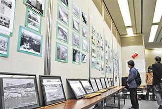 鶴見の懐かしい風景などが写る展示