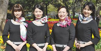 大使の筑地さん(左端)ら(石川さんは欠席)