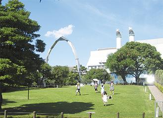 一般開放されている緑地(キリンビール横浜工場提供)