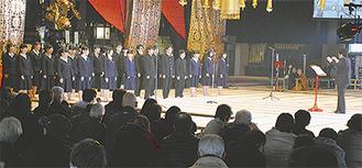 全国クラスの合唱を披露した安積黎明高