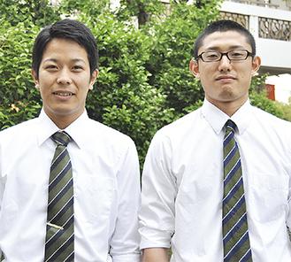 全日本出場を決めた津野崎さん(左)と菊池さん