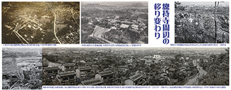 昭和初期ごろの總持寺周辺の移り変わりをまとめたパネル