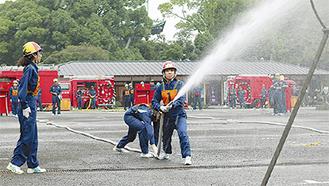 力を合わせて取り組む自衛消防隊
