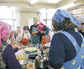 棚倉町の母が料理を伝授