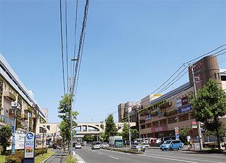 環2沿いに広がるトレッサ横浜