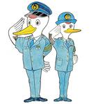 鶴見警察署のマスコット「かける」君と「まい」ちゃん