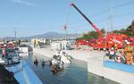 水没車両を使用した本格的な訓練(昨年12月に実施された関東ブロック9都県の訓練)。通常では簡単にできない災害時の訓練も新施設なら可能となっています