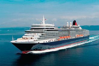 世界で最も有名な客船といわれる「クイーン・エリザベス」(写真提供:キュナード・ライン)