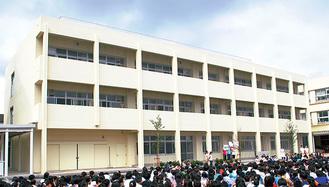児童数増加から2016年に増築した校舎
